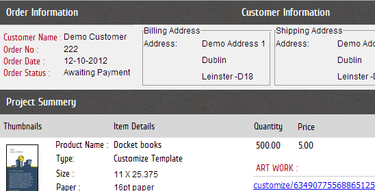 Job Ticketing - web to print Ireland and Print MIS Software