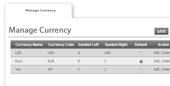 Multiple currency support - Web To Print and Print MIS Software