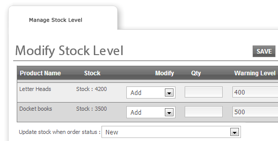 Stock Management - Web To Print and Print MIS Software